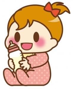 赤ちゃん女_おすわりミルク